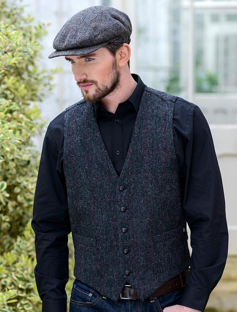 b5c99ed5dc0da Mens Islay Tweed Waistcoat 100% Wool Tweed 36 Sage Check