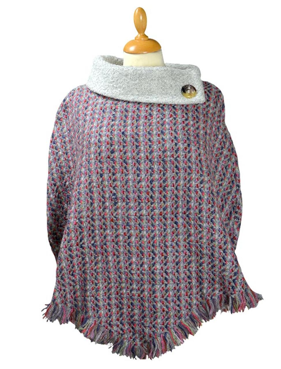 9957ef41 Amy Connemara Cape - Light Grey | Branigan Weavers