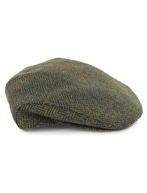 ... Trinity Tweed Flat Cap - Forest Green ... 233c9a01ddb