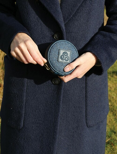Kerry Tweed Traditional Coin Purse - Midnight Blue
