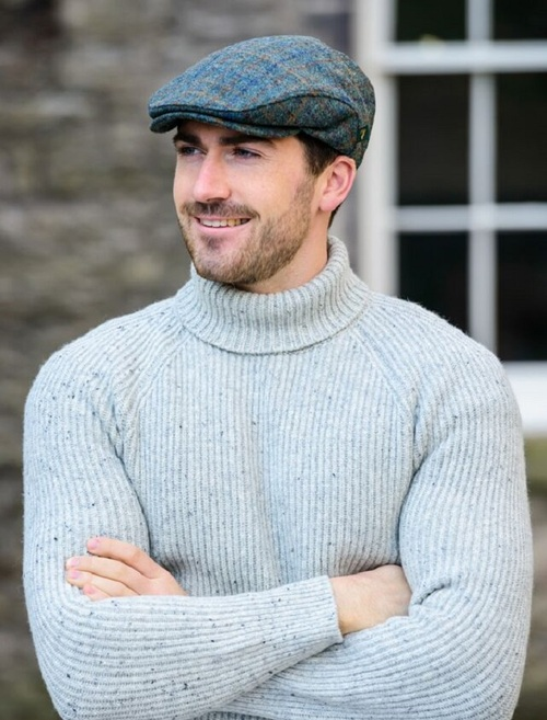 Trinity Tweed Flat Cap - Green & Brown Plaid