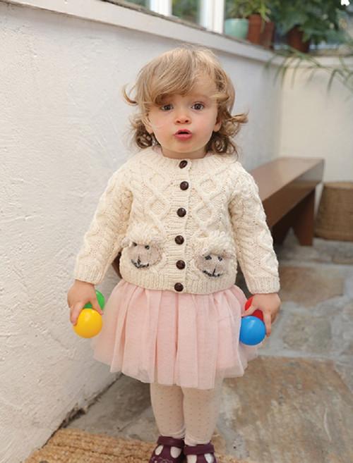 Baby Shepley Aran Cardigan (R776)