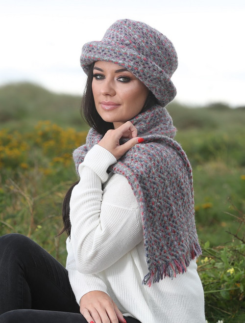 Wool Country Scarf - Connemara Light-Grey