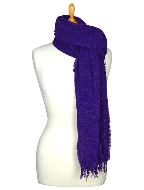 Fine Lambswool Celtic Stole - Royal Purple