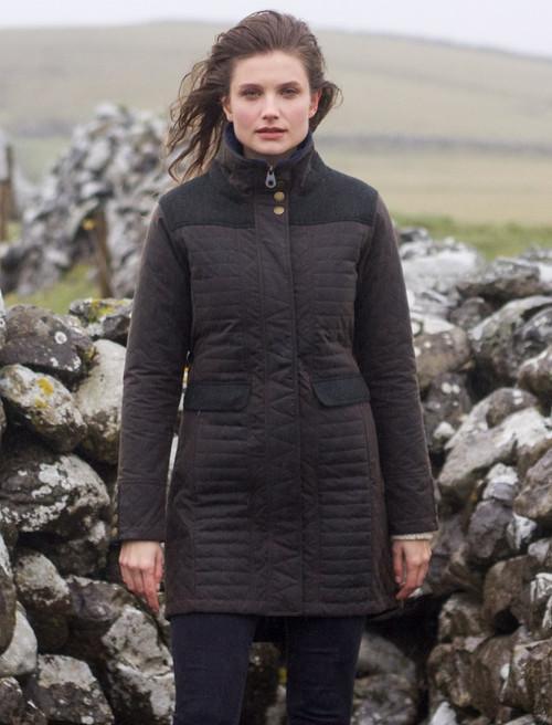 Jodie Waxed Coat - Olive