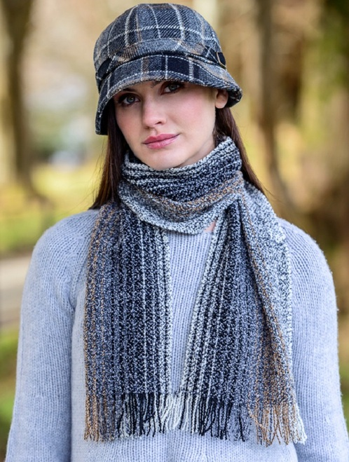 Wool Cashmere Skellig Scarf - Charcoal