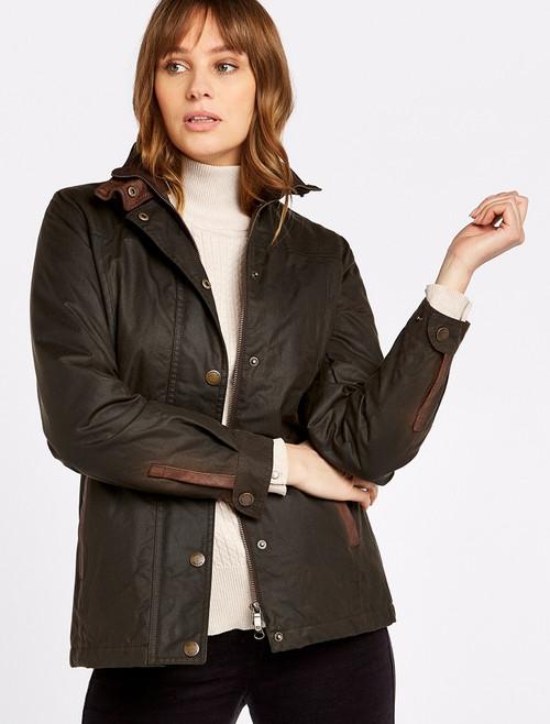 Mountrath Ladies Waxed Cotton Jacket - Olive