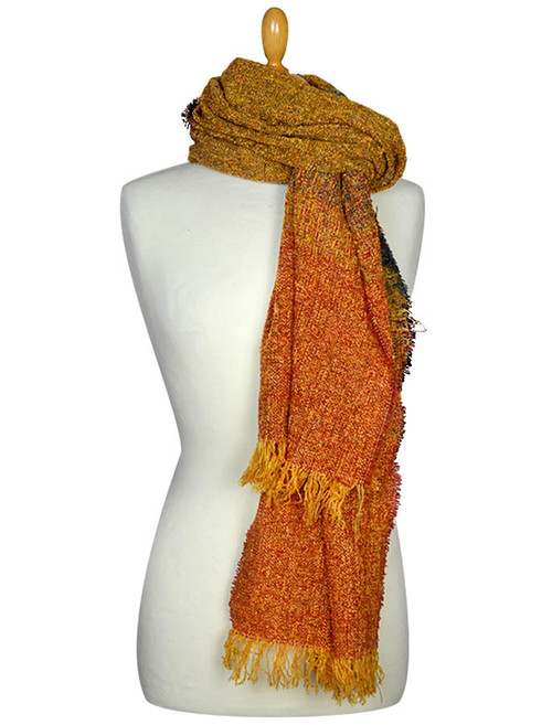 Fine Lambswool Celtic Stole - Gold