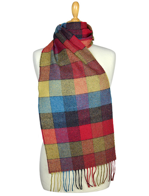 Lambswool Scarf - Donegal Check