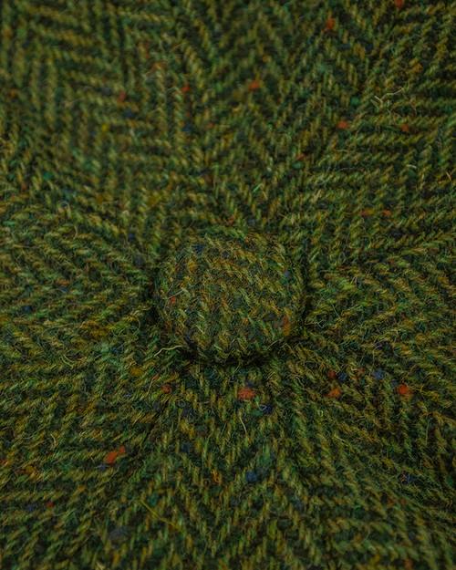 59772bc18ad4 Donegal Tweed Mens Gatsby Cap - Green | Aran Sweater Market