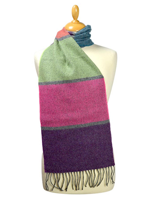 ce448557ba5fd Lambswool Scarf - Contemporary Stripe