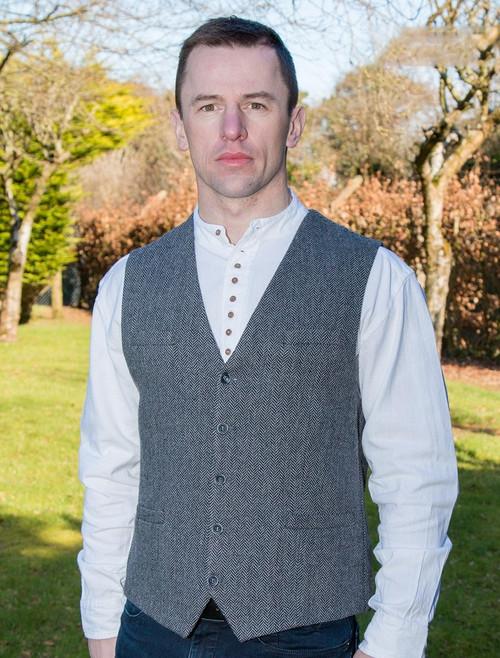 Emerald Waistcoat - Grey