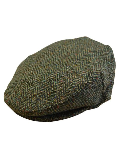 Children's Tweed Flat Cap - Green