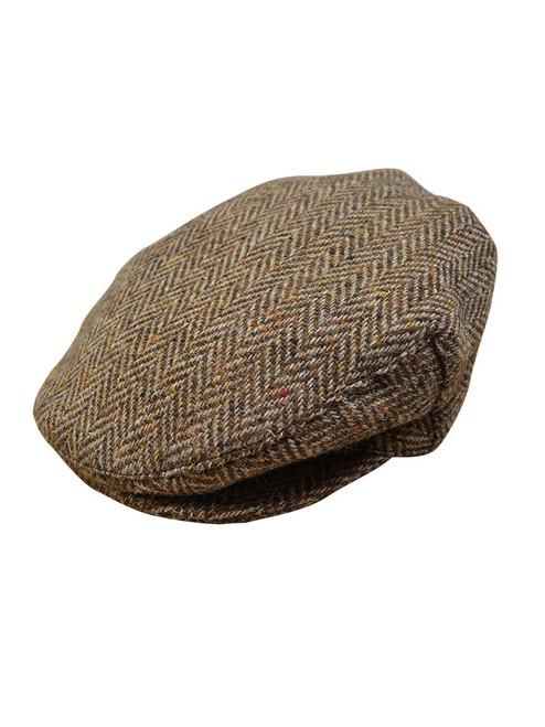 Children's Tweed Flat Cap - Brown