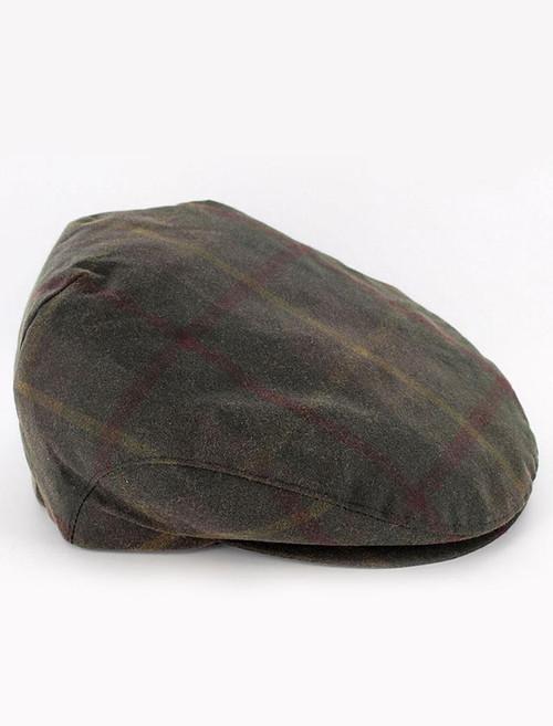 Trinity Wax Flat Cap - Tartan  ad05102ca81