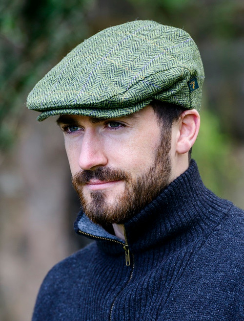 Trinity Tweed Flat Cap - Light Green