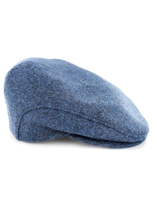 Trinity Tweed Flat Cap - Blue