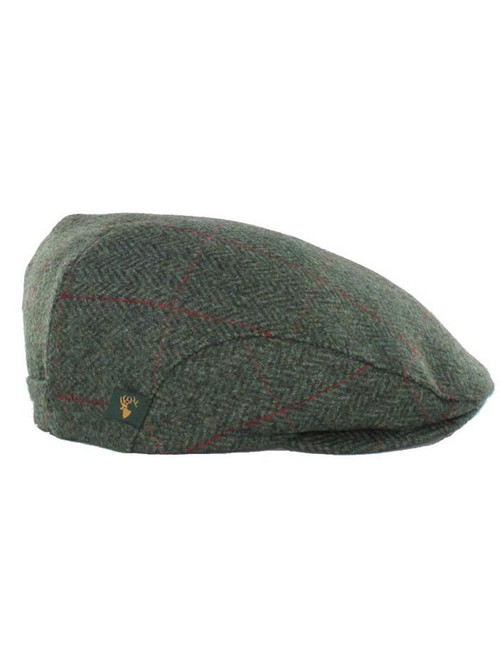 d8543ebe1 Trinity Tweed Flat Cap - Charcoal with Red   Mucros Weavers