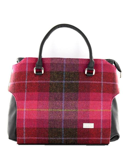Emily Tweed Bag - Pink Plaid
