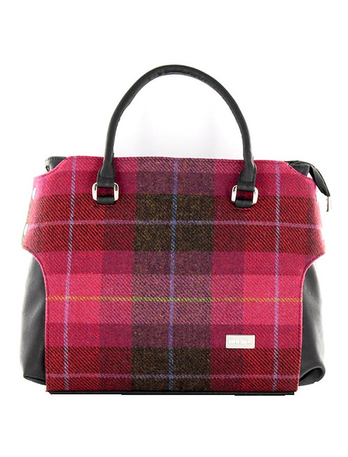 Emily Tweed Bag - Pink Plaid
