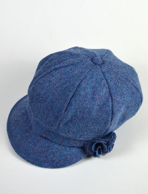 Ladies Shannon Newsboy Hat - Denim 90964a8869