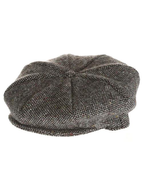 422f454b Abby Tweed 8 Panel Cap - Grey Salt & Pepper   Hanna Hats