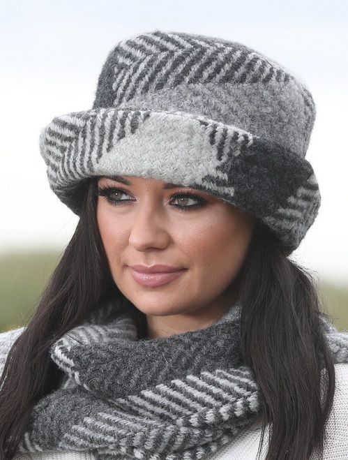 Wool Country Hat - Donegal Grey