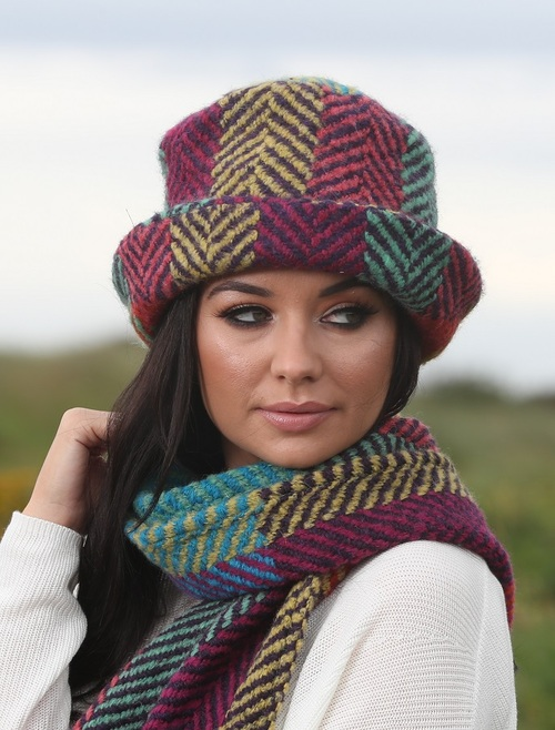Wool Country Hat - Multi Light Green
