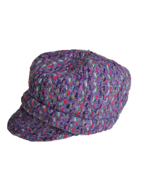 Wool Newsboy Hat - Connemara Violet