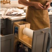 KraftMaid Cleaning Supply Organizer base cabinet storage innovation