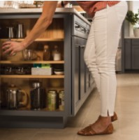 KraftMaid Island Cubby base cabinet storage innovation