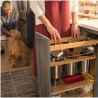 KraftMaid Pot and Pan Pull-Out base cabinet storage innovation