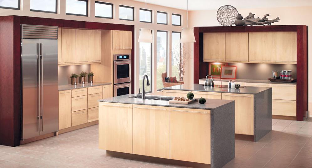 Light Maple Kitchen Cabinets In Natural Blonde Kraftmaid