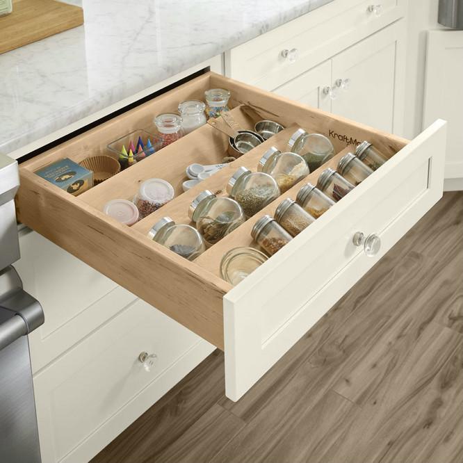 Spice Drawer Insert Organizer For Kitchen Cabinets Kraftmaid