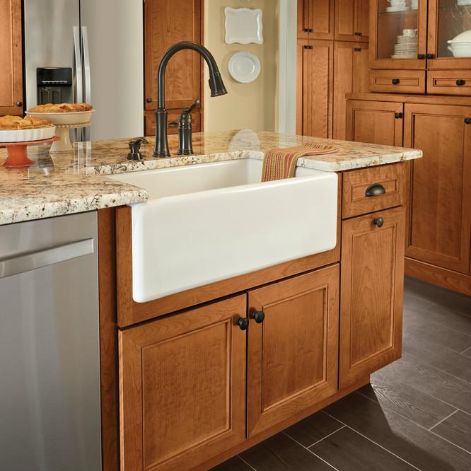 Farmhouse Sink Base Cabinet For Kitchen Apron Front Kraftmaid