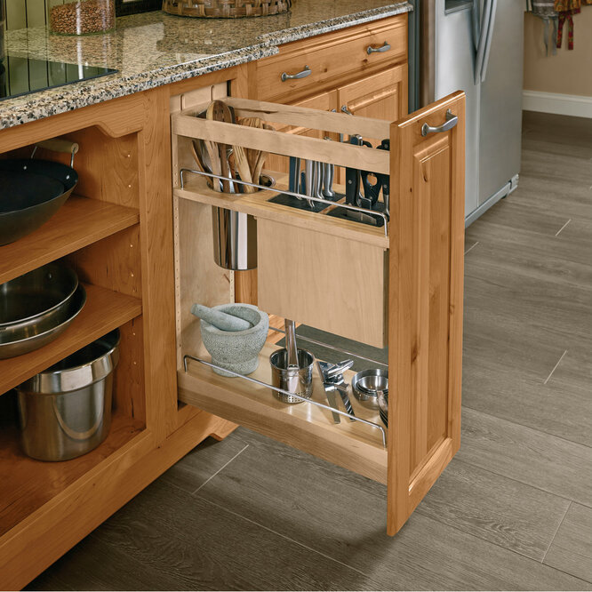 Base Pantry Pull Out Utensil Storage Kraftmaid