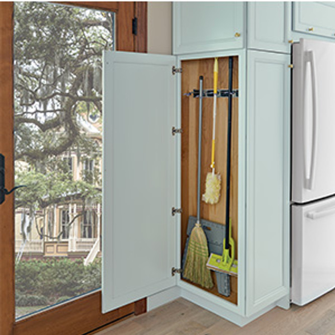 Broom Closet Cabinet Plans: KraftMaid Shallow Integrated Utility Cleaning Cabinet