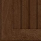 Saddle stain on Cherry wood cabinets.