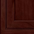 Cabernet stain on Cherry wood cabinets.
