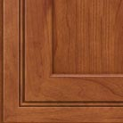 Sunset stain on Cherry wood cabinets.