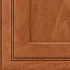 Cinnamon stain on Maple wood cabinets.