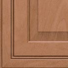 Ginger stain on Maple wood cabinets.