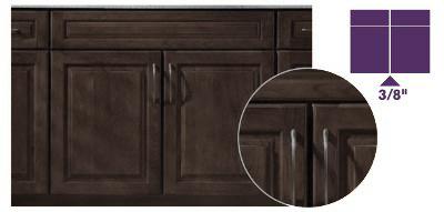 KraftMaid Full-Overlay Doors on Peppercorn Kitchen Cabinets.