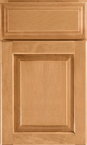 KraftMaid stained wood cabinets.