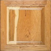 Cherry wood for kitchen cabinets.