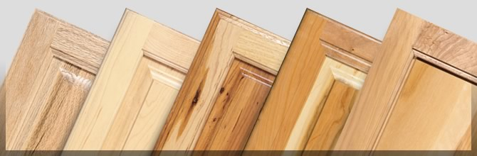 Types of wood for kitchen cabinets.