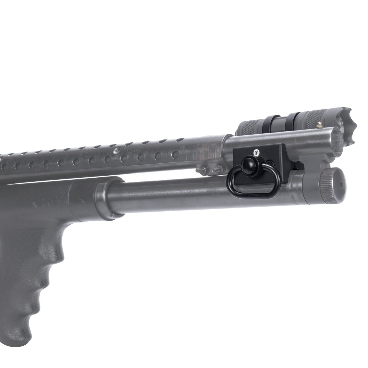 Mossberg 500 Shotgun upgrades Tactical Weaver Rail Scope Mount aluminum black.