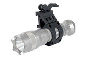 1 inch Diameter Offset Flashlight Mount for Picatinny Rails with Quick Release