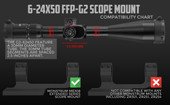 G2 6-24x50 FFP Rifle Scope
