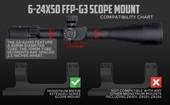 G3 6-24x50 FFP Rifle Scope